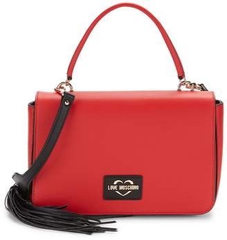 Love Moschino Tassel Faux Leather Shoulder Bag