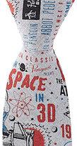 Original Penguin Space Print Skinny Cotton Tie