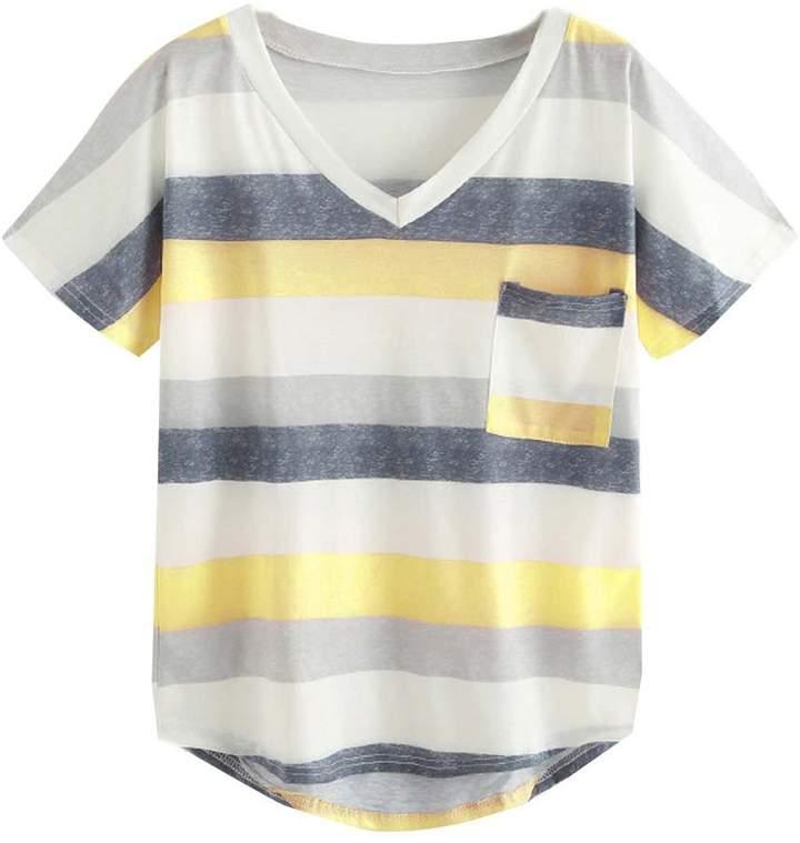 6bb2b7cb8c46f2 Yellow Sleeveless Shirt - ShopStyle Canada