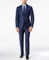 DKNY Men's Slim-Fit Blue Flannel Suit