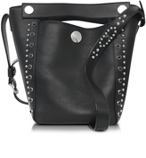 3.1 Phillip Lim Dolly Black Leather Small Tote w/Studs