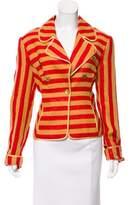 Gianfranco Ferre Striped Linen Jacket w/ Tags