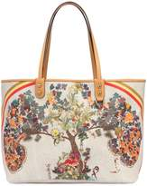 Etro Tree Print Coated Canvas Tote Bag