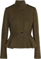 Alexander McQueen Wool-felt peplum jacket