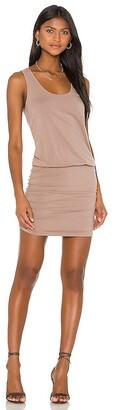 Bobi Draped Modal Jersey Mini Dress