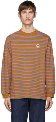 Carne Bollente Brown Striped Longer Dickface Long Sleeve T-Shirt