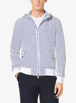 Michael Kors Striped Hooded Jacket