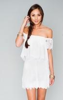 MUMU Skater Mini Skirt ~ Spring Fling Lace White