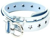Peppercorn Kids Metallic Star Belt-Silver Ice-M-L