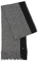 Hugo Boss Fador Wool Melange Scarf One Size Black