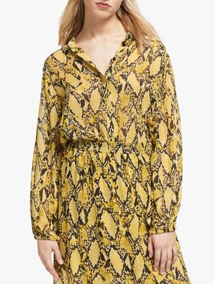 Second Female Snake Print Shirt, Chai Tea