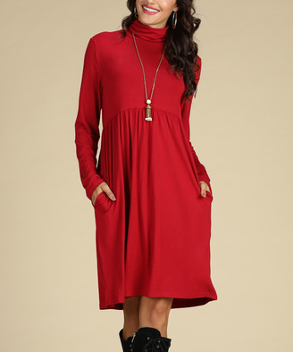 Suzanne Betro Dresses Women's Career Dresses 102RED - Red Empire-Waist Dress - Women & Plus