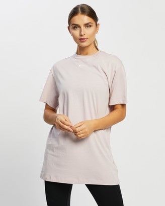 Nike Women's Pink T-Shirt Dresses - Essential Dress - Size XS at The Iconic