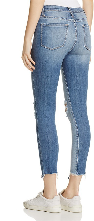 Flying Monkey Distressed Contrast Jeans in Medium Wash