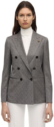Lardini Double Breasted Cool Wool Jacket