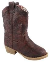 Natural Steps Toddler Girls' Clara Western Boots - Brown