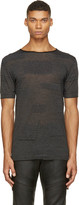 CNC Costume National Black Alternating Knit T-shirt