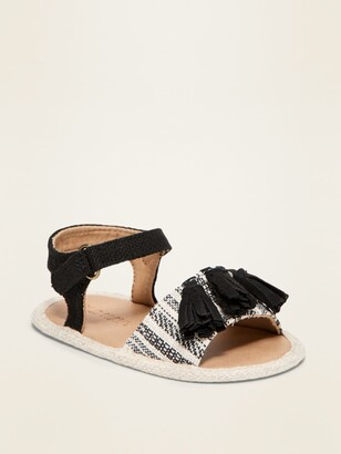 Old Navy Textile Faux-Suede Tassel Sandals for Baby