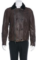 AllSaints Diverse Leather Peacoat