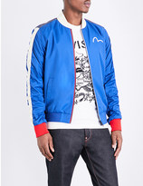 Evisu Appliqué shell bomber jacket