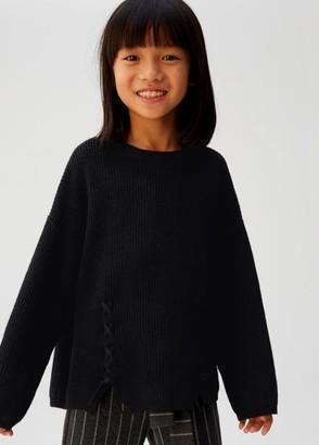 MANGO Braided detail knit sweater