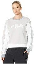 Fila Nuria Color Block Sweatshirt (White/Peacoat/Chinese Red) Women's Clothing