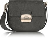 Furla Club Mini Black Pebble Leather Crossbody Bag