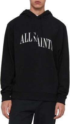 AllSaints Dropout Slim Fit Logo Graphic Hoodie