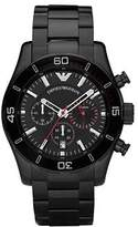 Emporio Armani Sport Chronograph Black Dial Black PVD Men's Watch