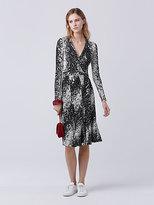 Diane von Furstenberg Lilyann Silk Jersey Wrap Dress
