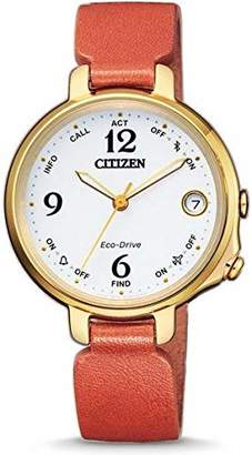 Citizen Womens Analogue-Digital Solar Powered Watch with Leather Strap EE4012-10A