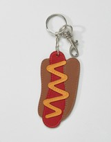 Asos Leather Hotdog Keychain