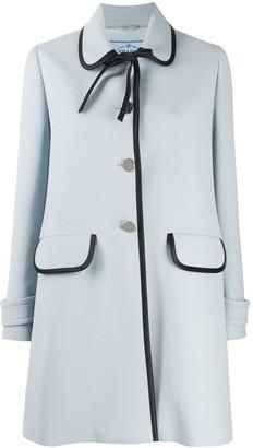 Prada Bow Collar Coat