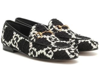 Gucci Jordaan GG tweed loafers