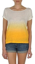 Gant LINEN DIP DYED T SHIRT Yellow