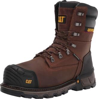 "Caterpillar Men's Excavator XL 8"" Waterproof Tx Composi Dark Brown - 10 Medium"