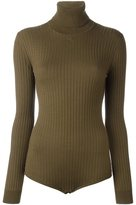 Courreges turtleneck knit body - women - Merino - 3