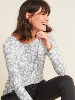 Old Navy Patterned Plush-Knit Long-Sleeve Tee for Women