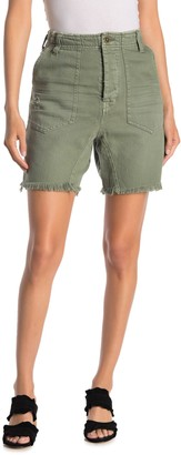 Free People She's A Legend High Waist Bermuda Shorts