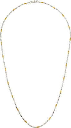 "Gurhan Wheat Two-Tone Beaded Long Necklace, 36""L"