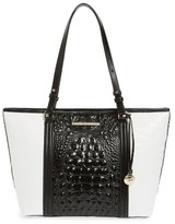 Brahmin Medium Crane Asher Leather Tote - Black