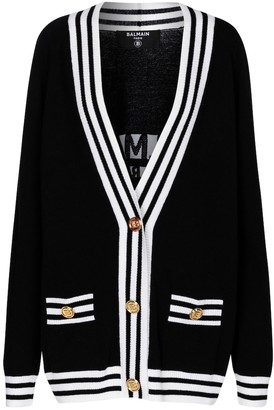 Balmain Wool and cashmere-blend cardigan
