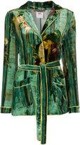 Alberta Ferretti velvet belt blazer