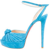 Christian Louboutin Knot-Accented Suede Pumps