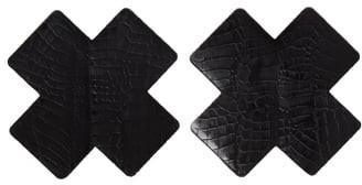 Bristols 6 Croc Embossed Reusable Nipple Covers