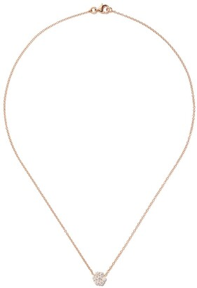 As 29 18kt rose gold Essentials large cluster diamond round necklace