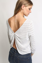 Shae Gathered Back Striped Sweater