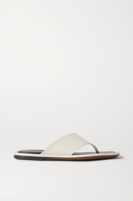 Neous Lanke Leather Flip Flops - Cream