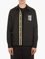 Raf Simons Black Cotton Logo Overshirt