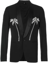 Christian Pellizzari palm tree embroidered blazer